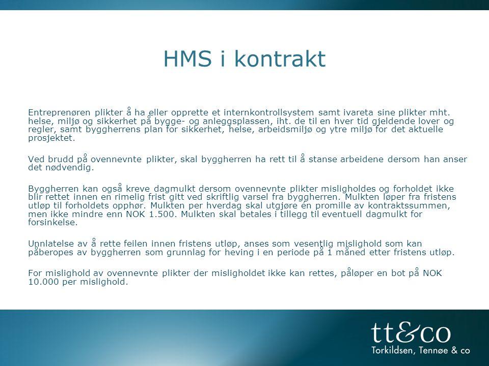 HMS i kontrakt