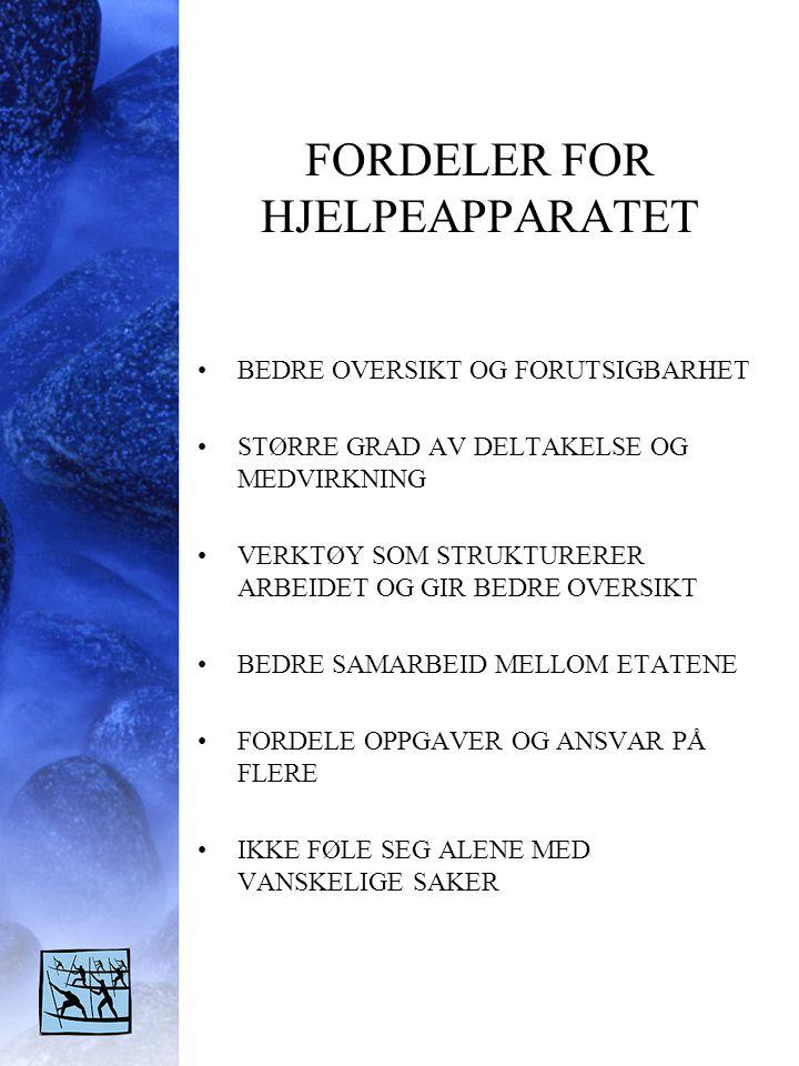 FORDELER FOR HJELPEAPPARATET