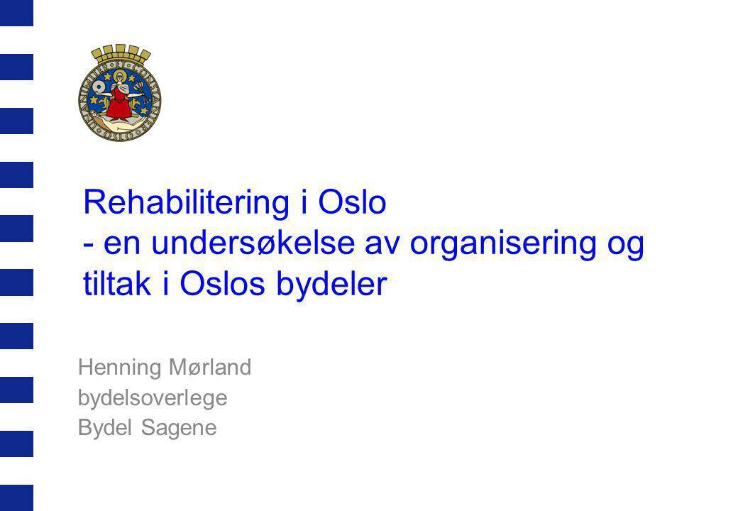 Henning Mørland bydelsoverlege Bydel Sagene