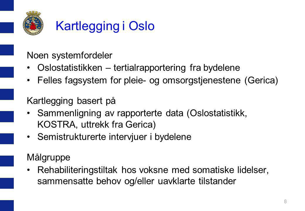 Kartlegging i Oslo Noen systemfordeler