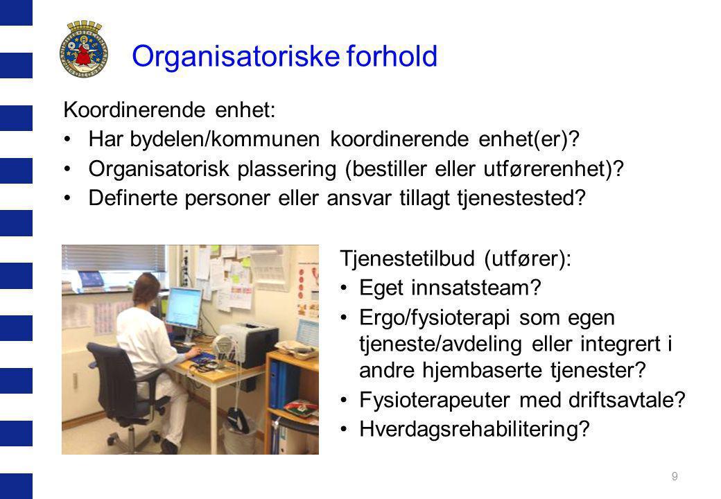 Organisatoriske forhold