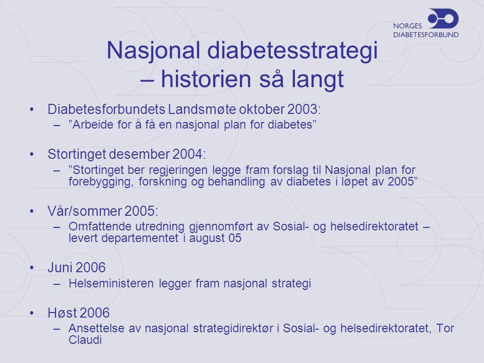 Nasjonal diabetesstrategi – historien så langt