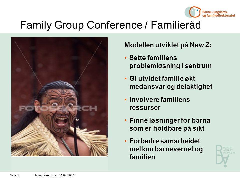 Family Group Conference / Familieråd