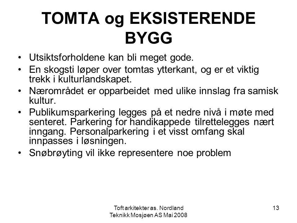 TOMTA og EKSISTERENDE BYGG