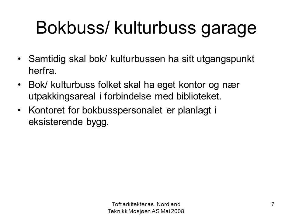 Bokbuss/ kulturbuss garage