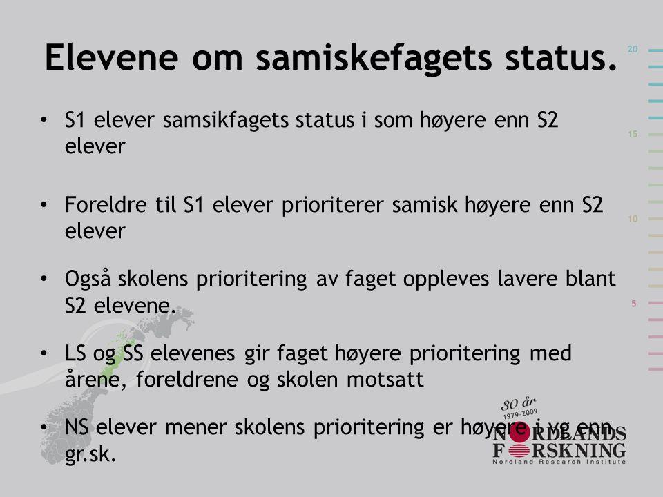 Elevene om samiskefagets status.