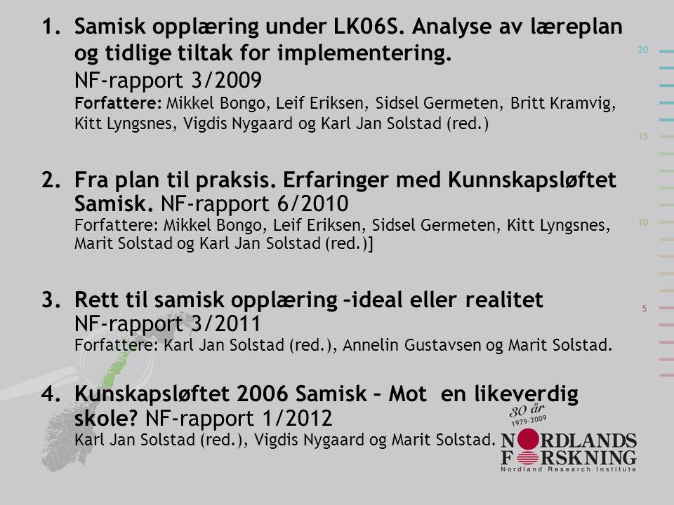 Samisk opplæring under LK06S