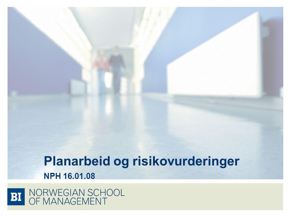 Planarbeid og risikovurderinger