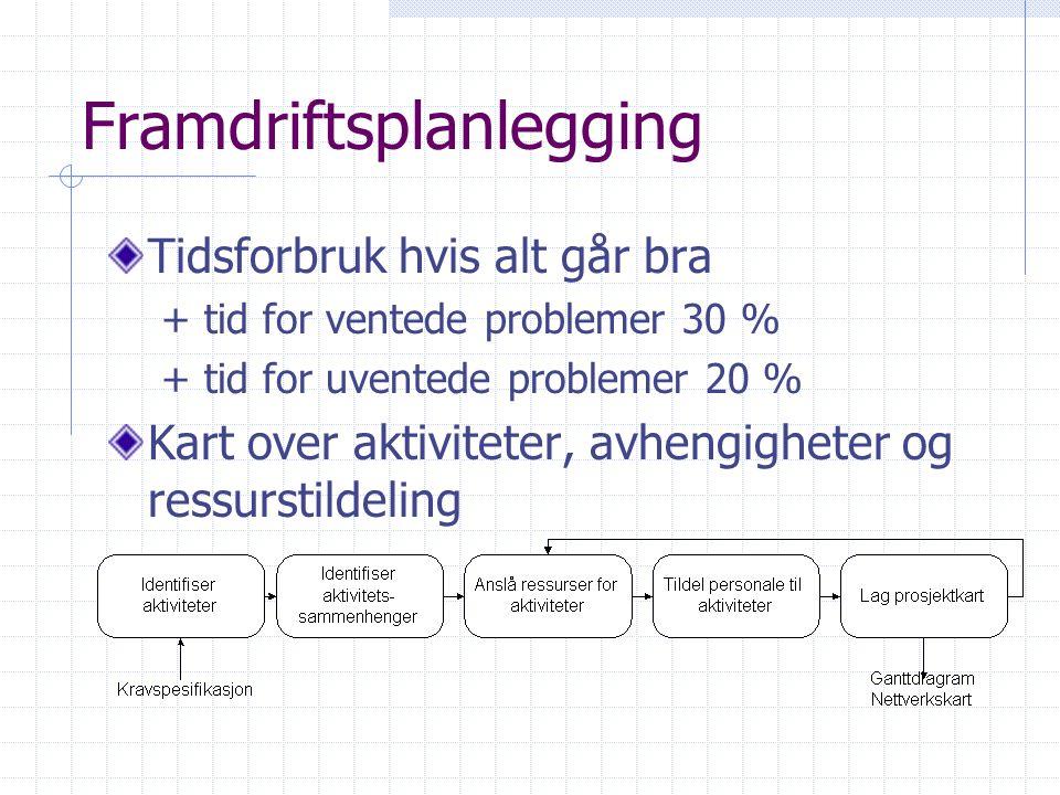 Framdriftsplanlegging
