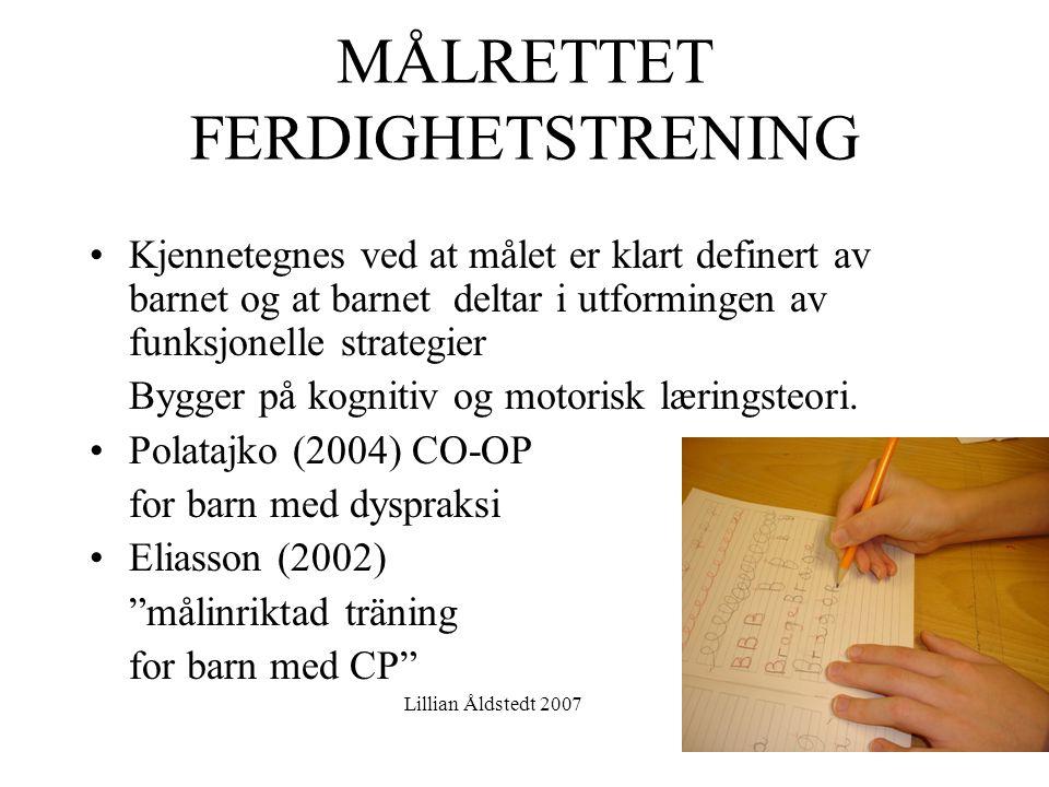 MÅLRETTET FERDIGHETSTRENING