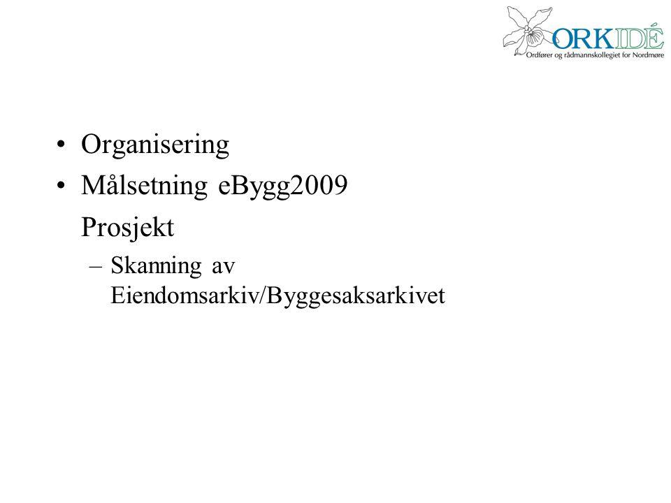 Organisering Målsetning eBygg2009 Prosjekt