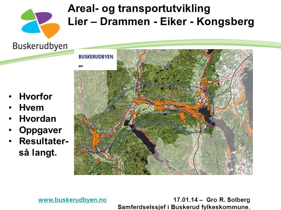 Areal- og transportutvikling Lier – Drammen - Eiker - Kongsberg