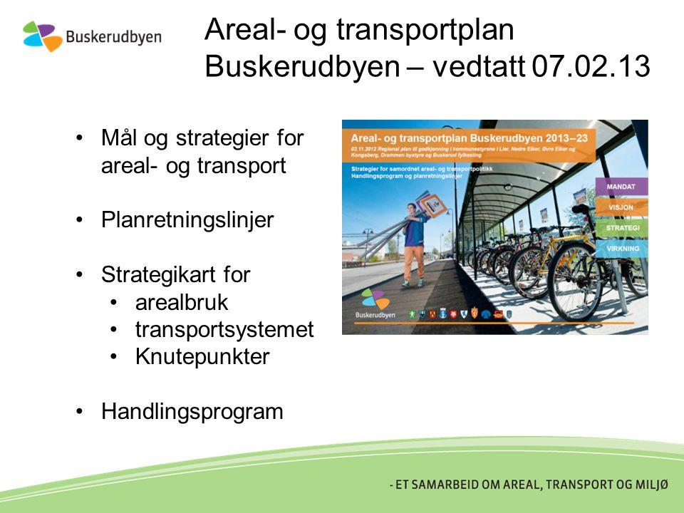 Areal- og transportplan Buskerudbyen – vedtatt 07.02.13