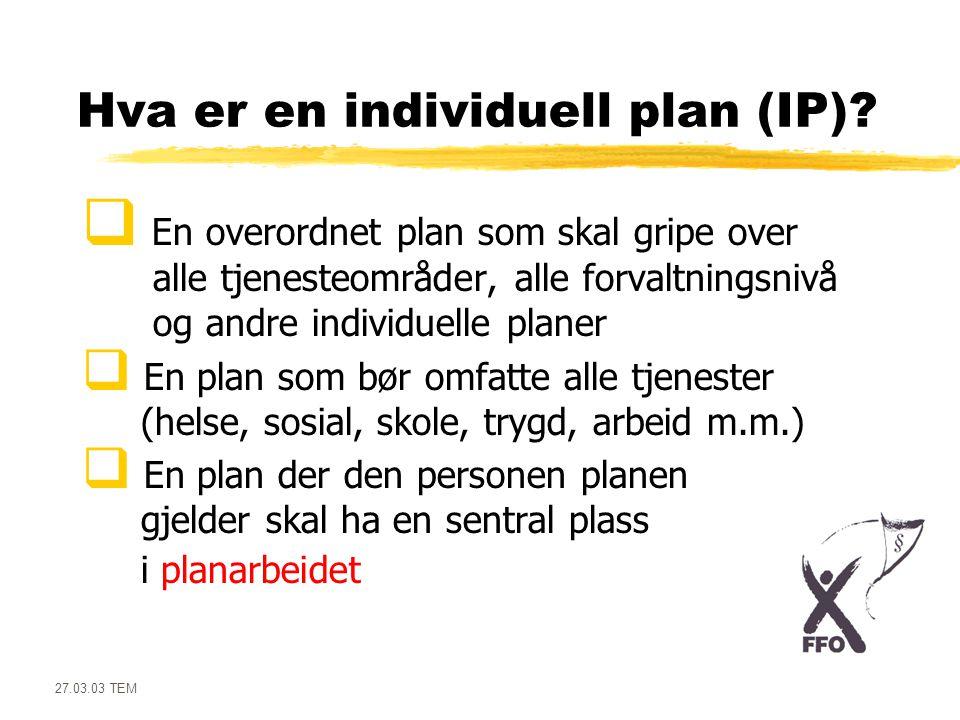 Hva er en individuell plan (IP)