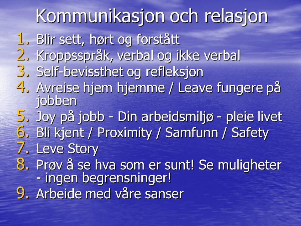 Kommunikasjon och relasjon