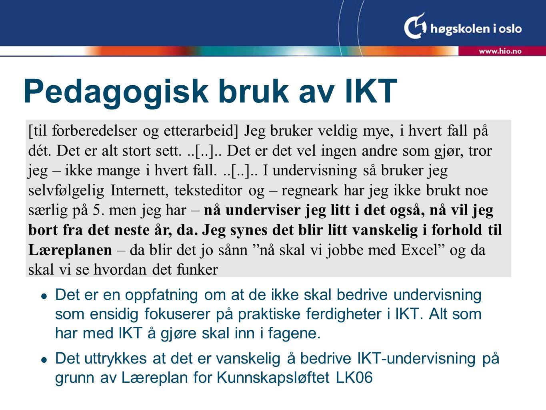 Pedagogisk bruk av IKT
