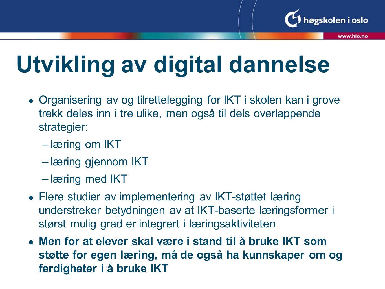 Utvikling av digital dannelse
