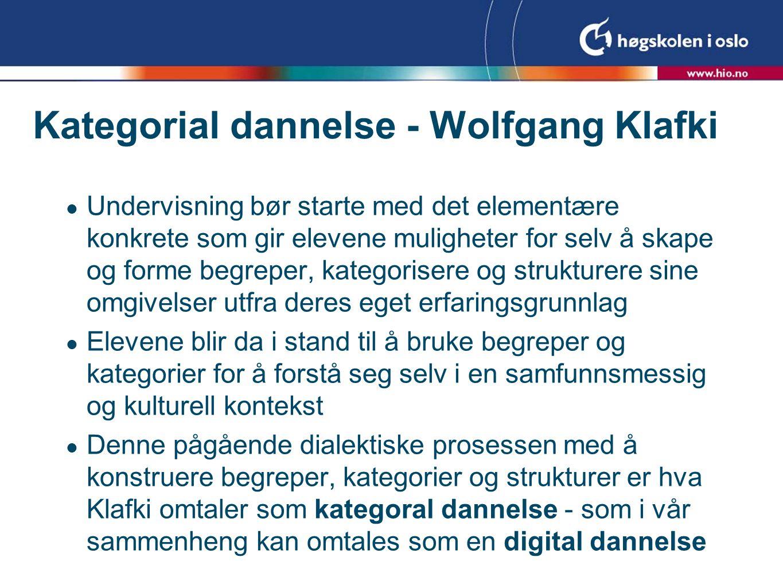 Kategorial dannelse - Wolfgang Klafki