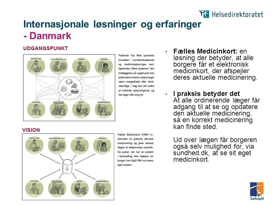 Internasjonale løsninger og erfaringer - Danmark