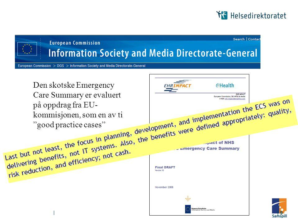 Den skotske Emergency Care Summary er evaluert på oppdrag fra EU-kommisjonen, som en av ti good practice cases