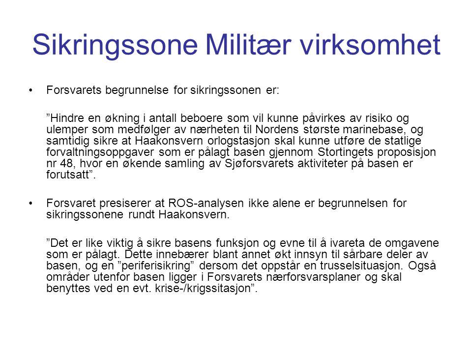 Sikringssone Militær virksomhet