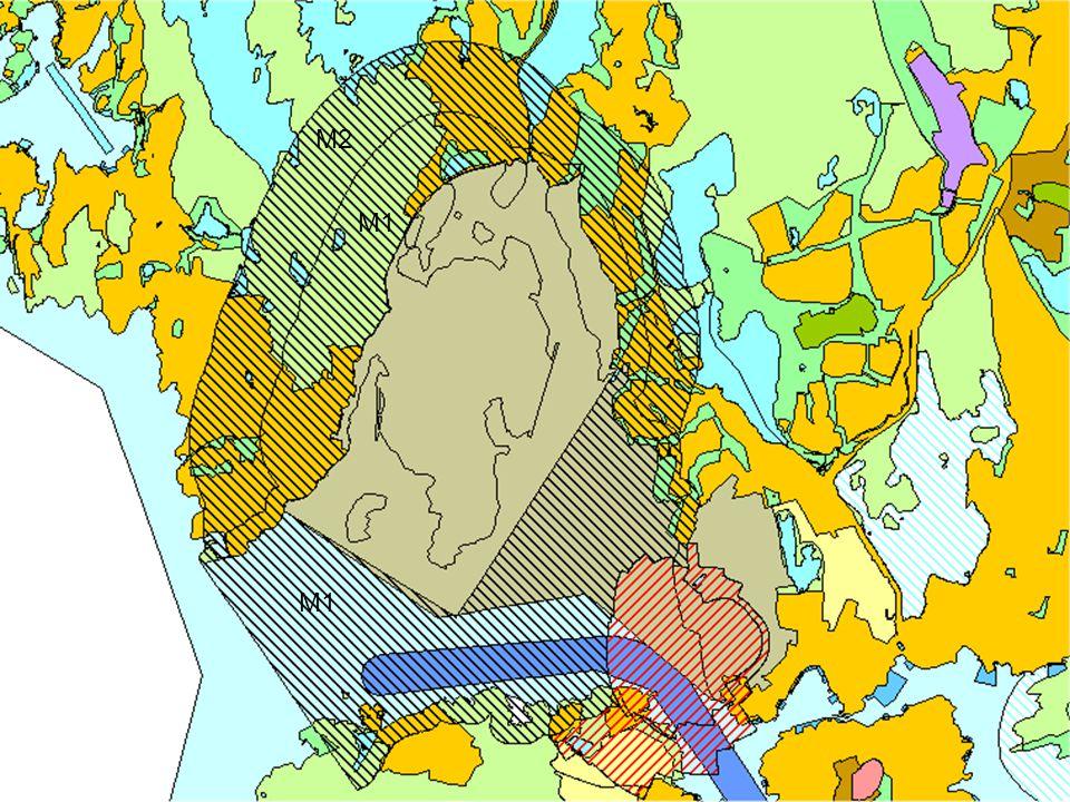 M2 M1 Sikringssoner Militær virksomhet rundt Haakonsvern; M1 og M2 M1