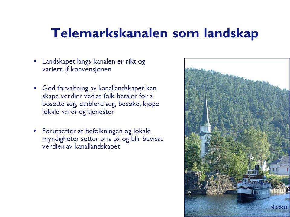 Telemarkskanalen som landskap