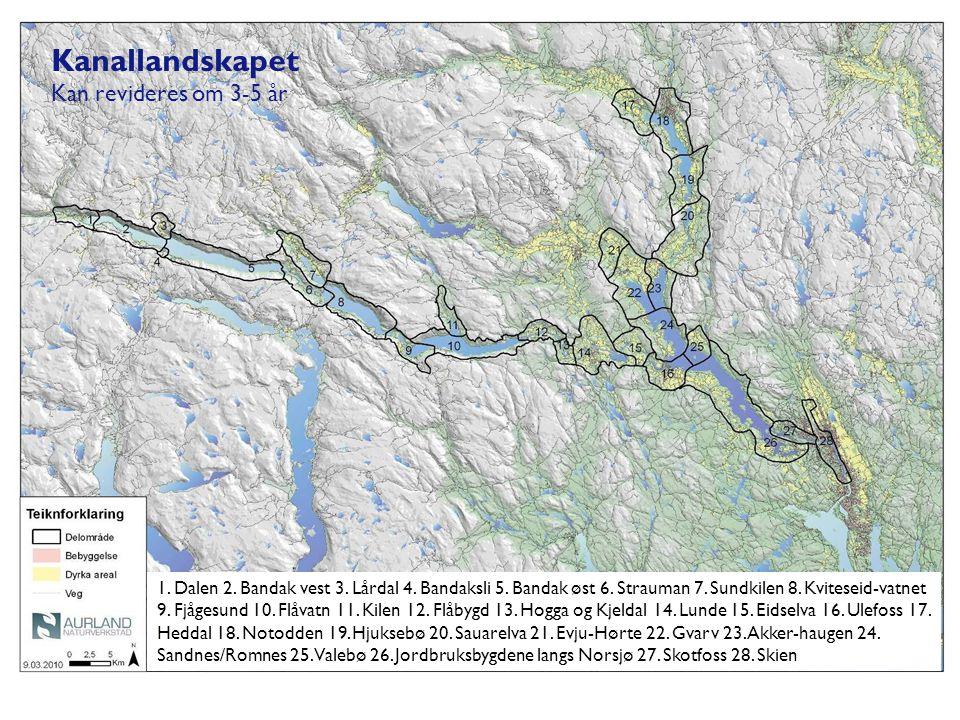 Kanallandskapet Kan revideres om 3-5 år