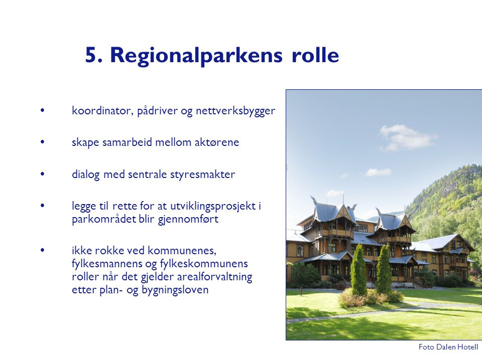 5. Regionalparkens rolle