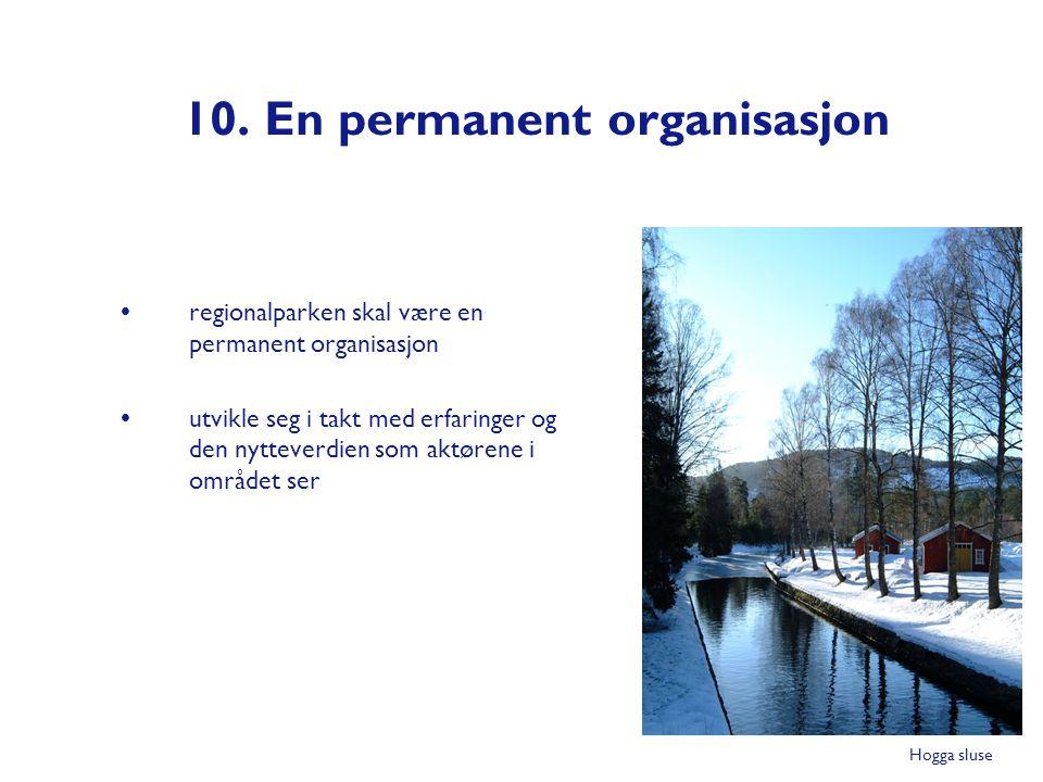 10. En permanent organisasjon