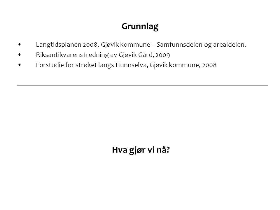 Grunnlag Langtidsplanen 2008, Gjøvik kommune – Samfunnsdelen og arealdelen. Riksantikvarens fredning av Gjøvik Gård, 2009.