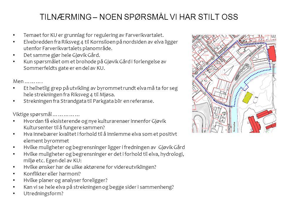 TILNÆRMING – NOEN SPØRSMÅL VI HAR STILT OSS
