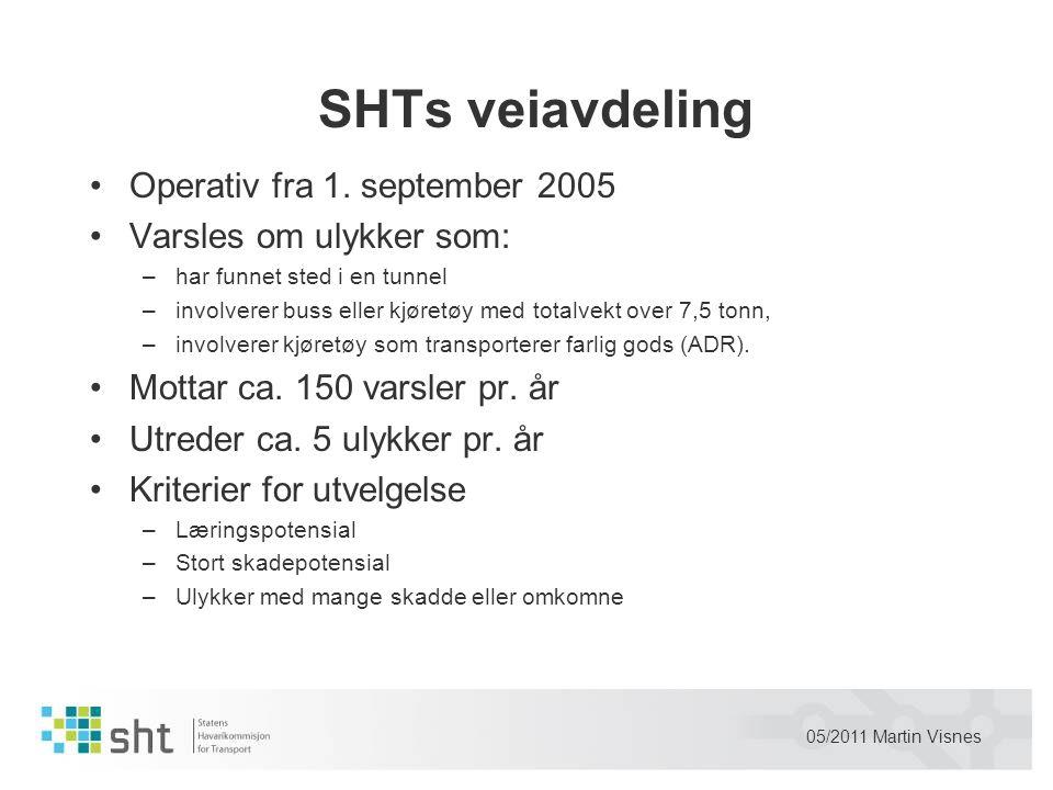 SHTs veiavdeling Operativ fra 1. september 2005