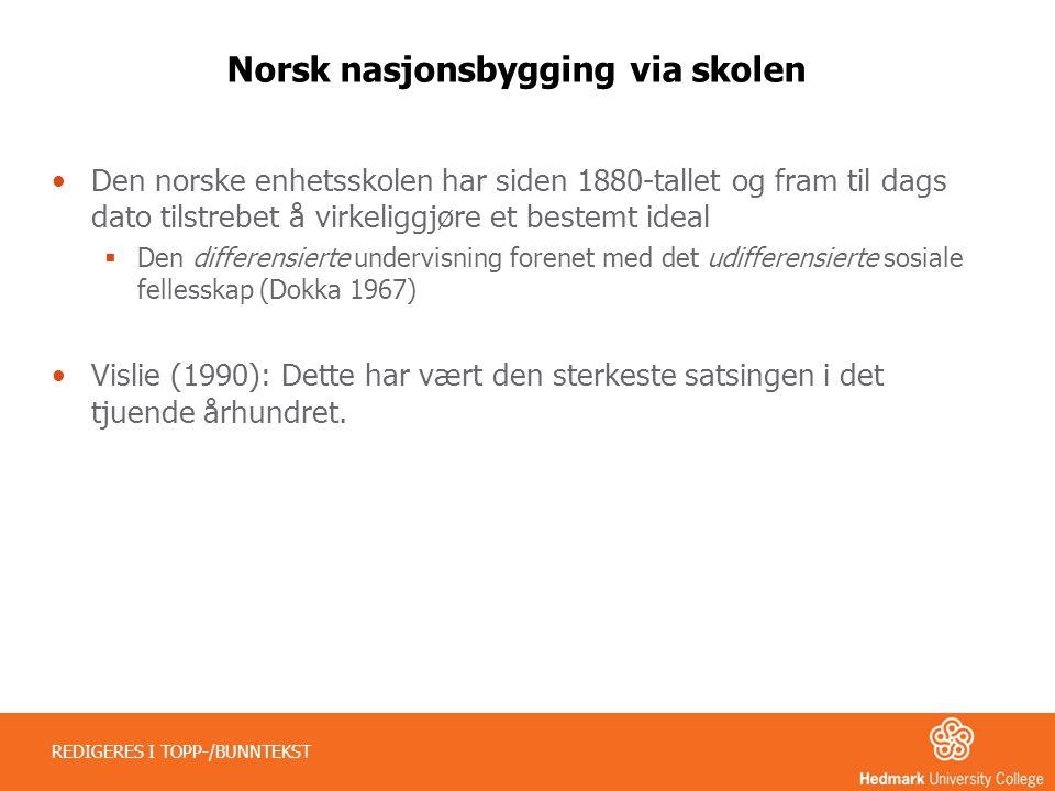 Norsk nasjonsbygging via skolen