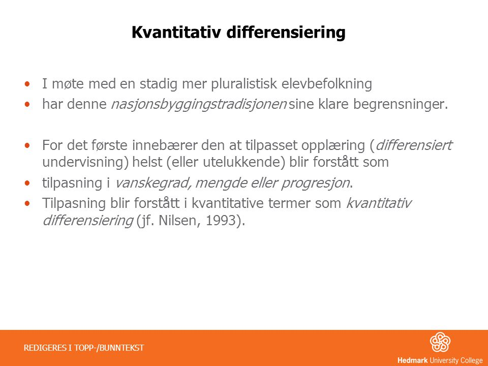 Kvantitativ differensiering