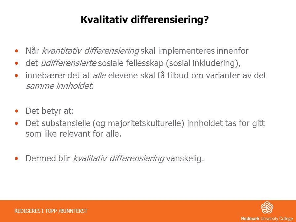 Kvalitativ differensiering