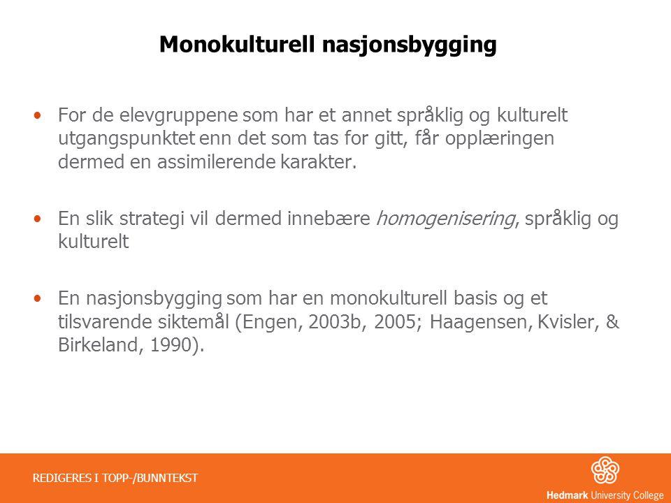 Monokulturell nasjonsbygging