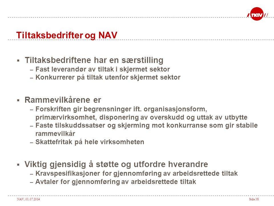 Tiltaksbedrifter og NAV