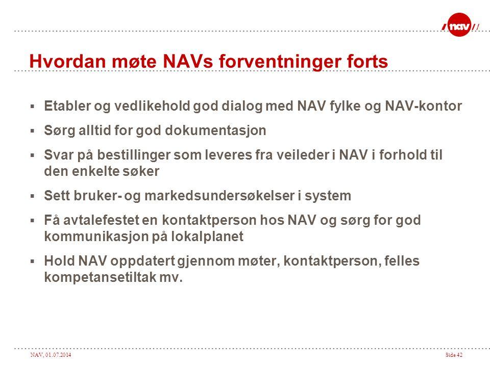 Hvordan møte NAVs forventninger forts
