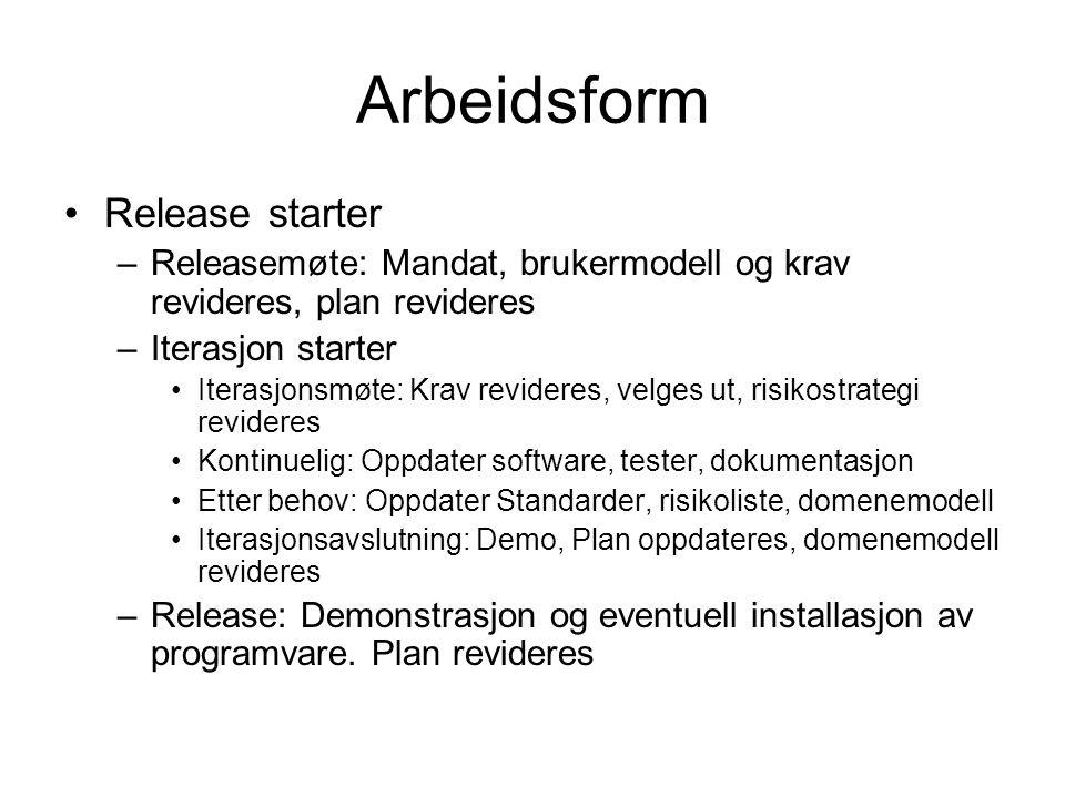 Arbeidsform Release starter