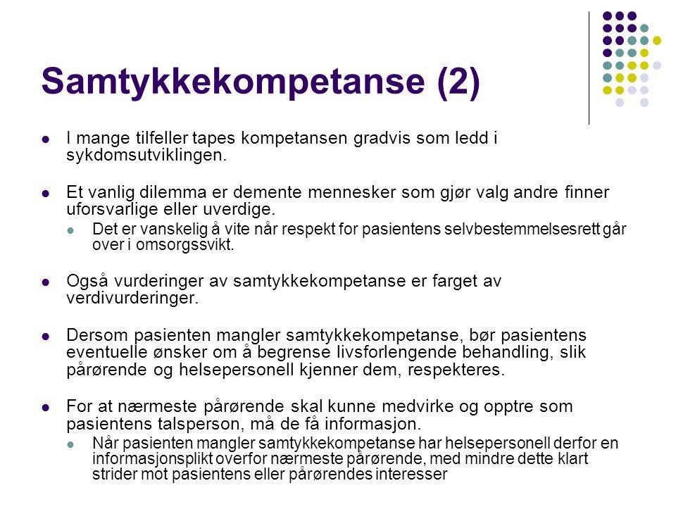 Samtykkekompetanse (2)