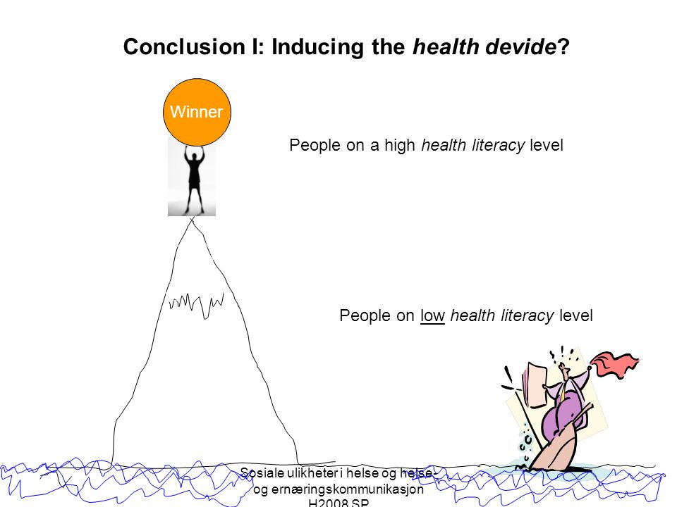 Conclusion I: Inducing the health devide