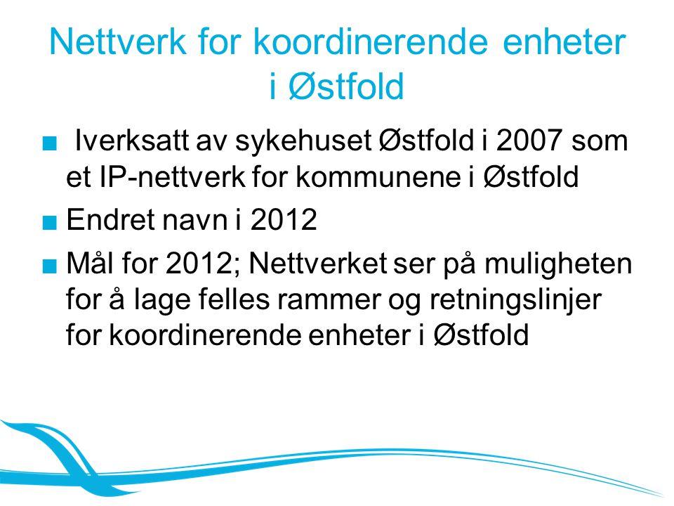 Nettverk for koordinerende enheter i Østfold