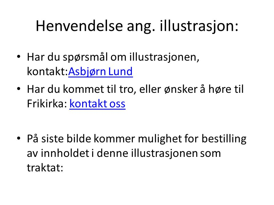 Henvendelse ang. illustrasjon: