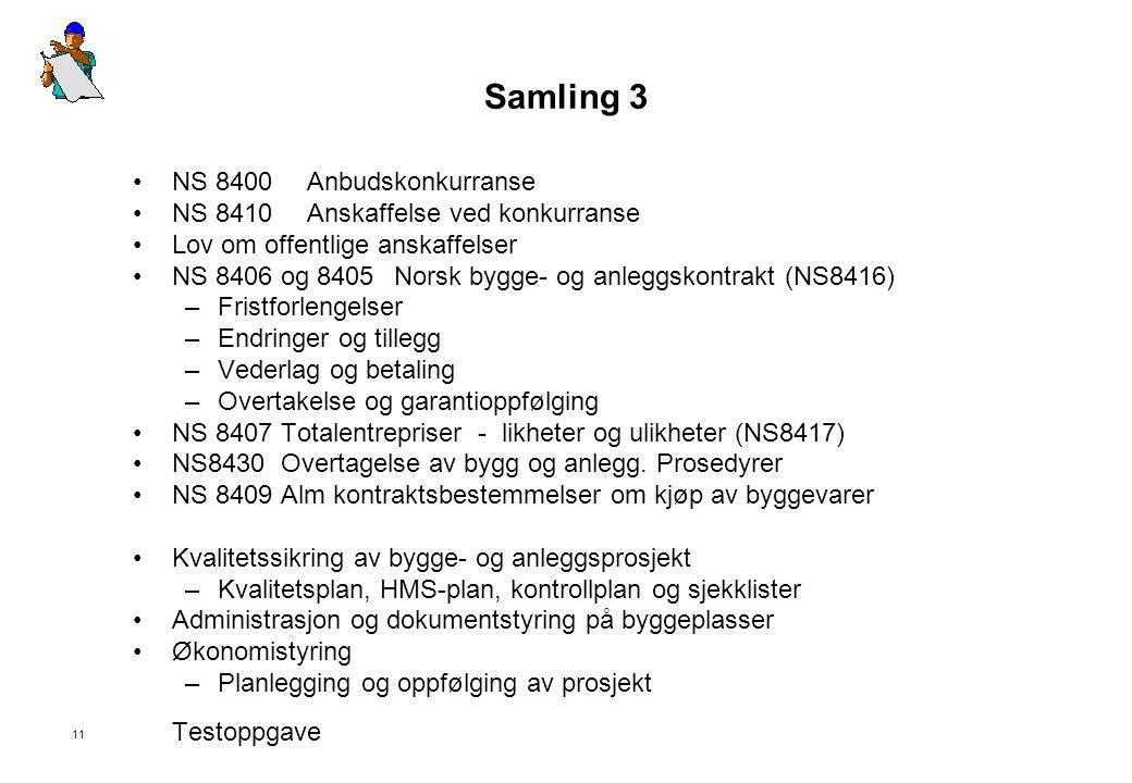 Samling 3 NS 8400 Anbudskonkurranse