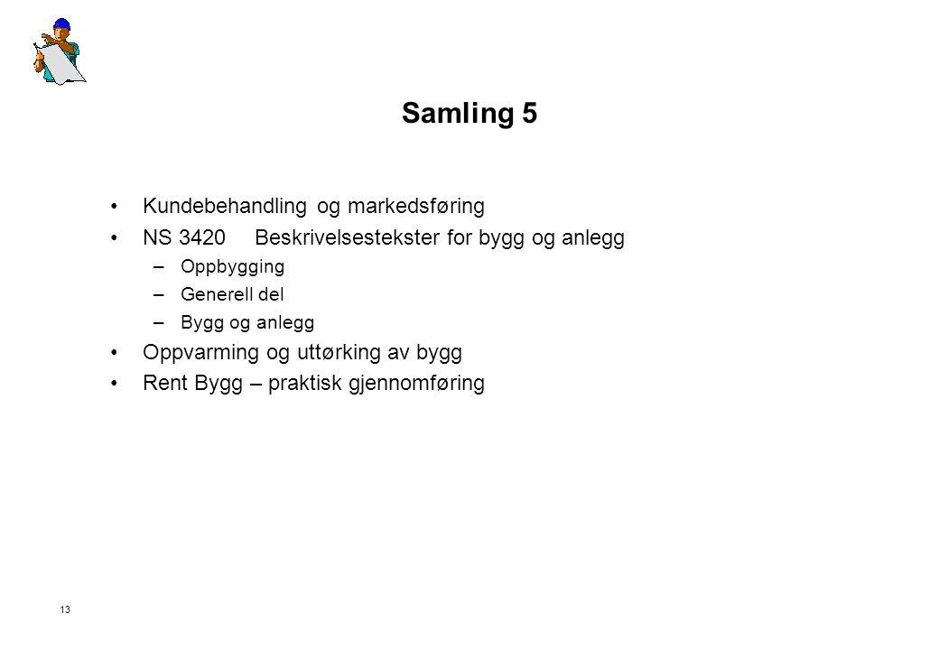 Samling 5 Kundebehandling og markedsføring