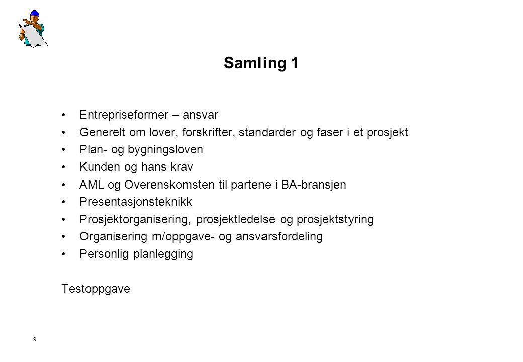 Samling 1 Entrepriseformer – ansvar