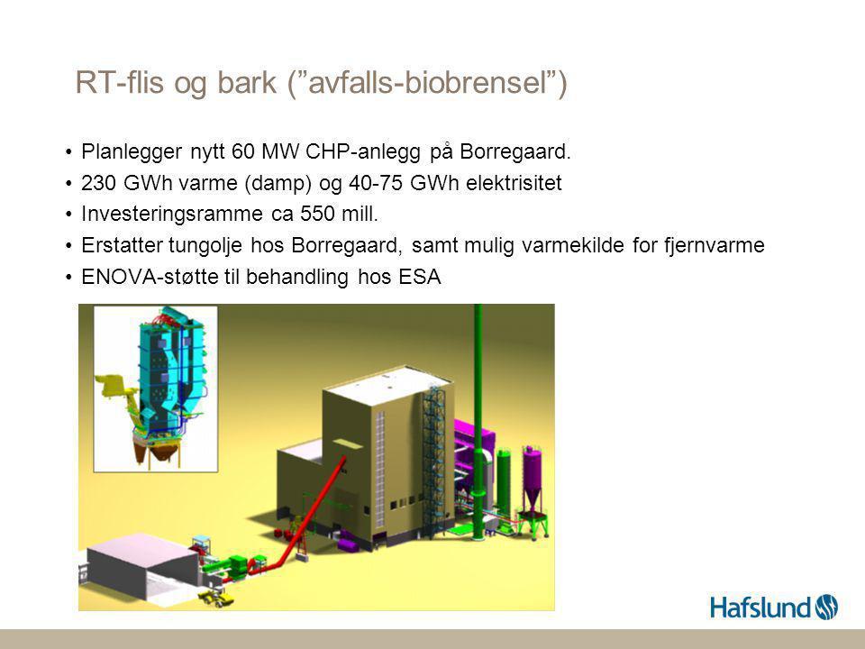 RT-flis og bark ( avfalls-biobrensel )