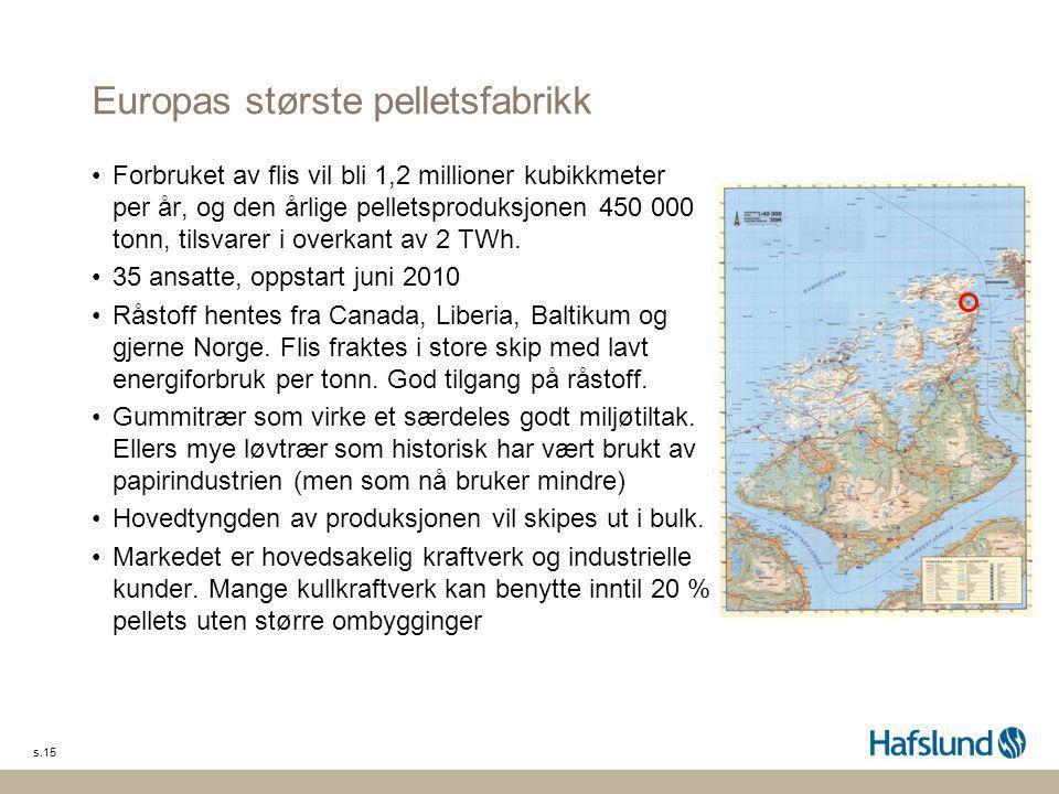 Europas største pelletsfabrikk