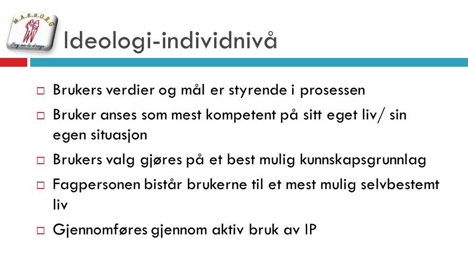 Ideologi-individnivå